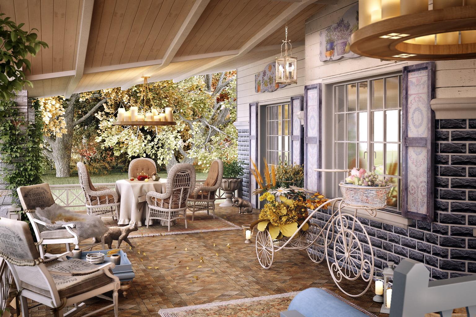Веранда в стиле прованс - станет вашим любимым уголком, где все наполнено теплом и романтикой