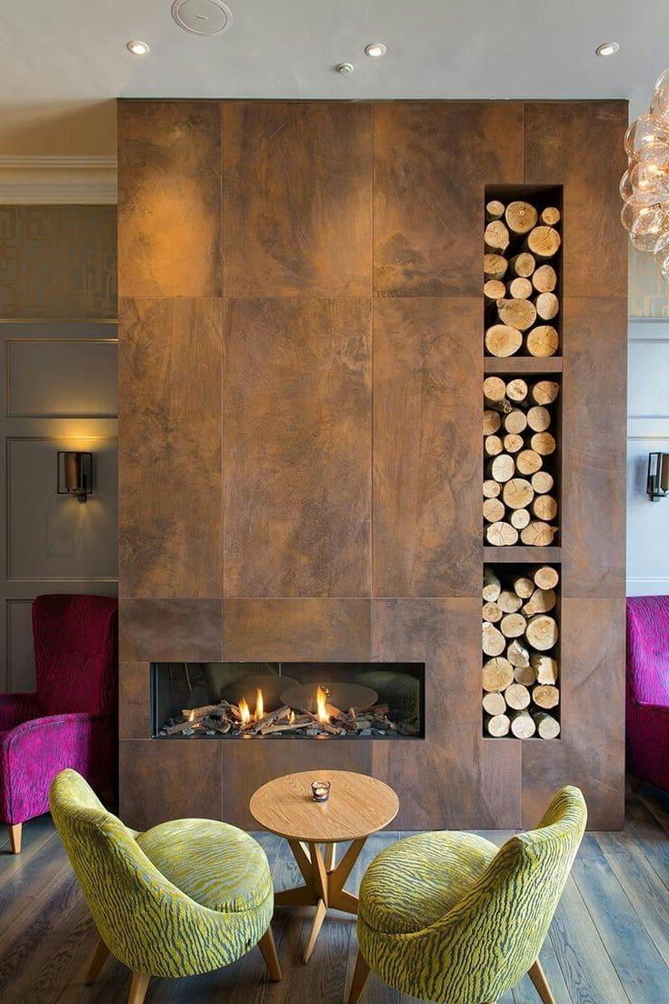 Камины для дома на этаноле отлично подойдут для строгого и изысканного интерьера