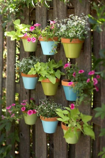 вертикальный сад из цветов