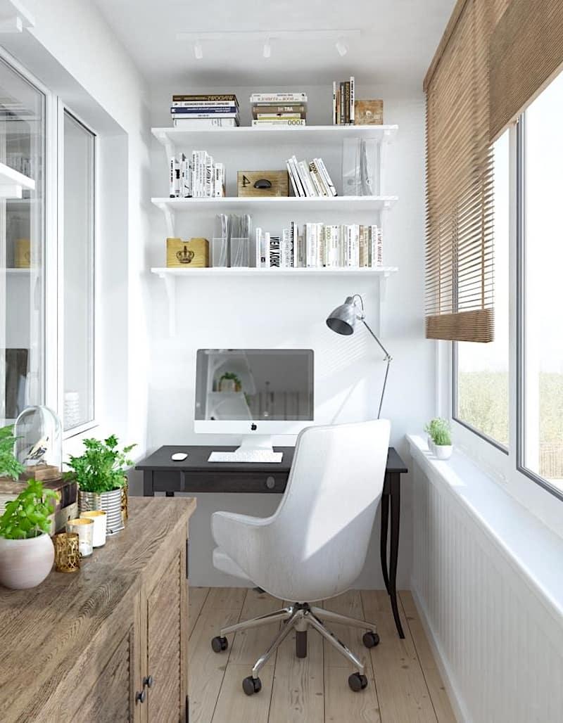Подчеркнуть стиль помещения помогут деревянные жалюзи на окнах