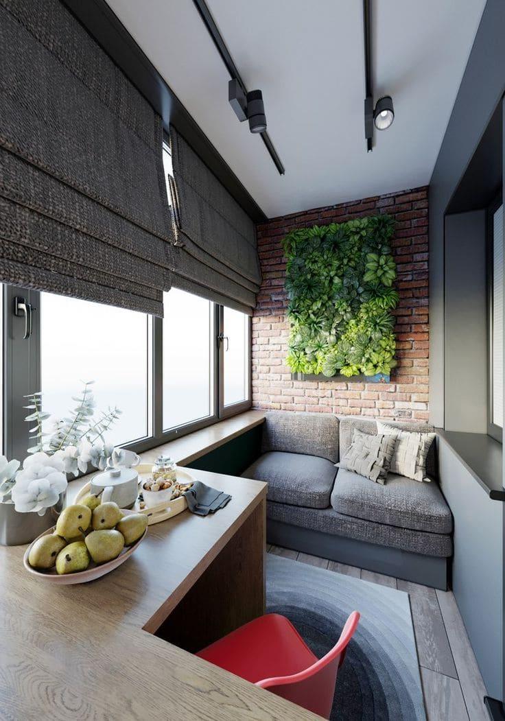 Красивый балкон с оригинальным дизайном