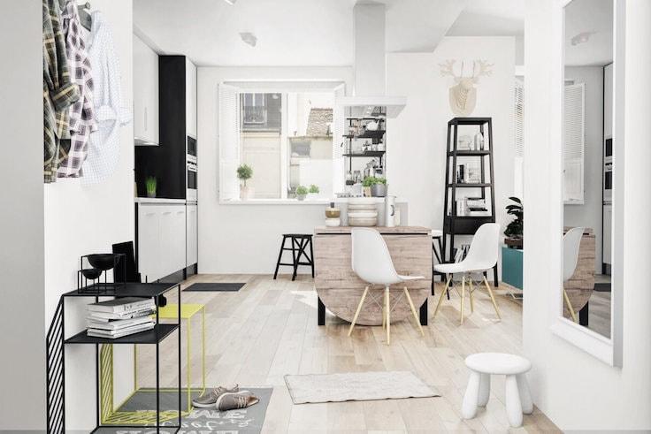 Складной столик для маленькой квартиры в современном стиле