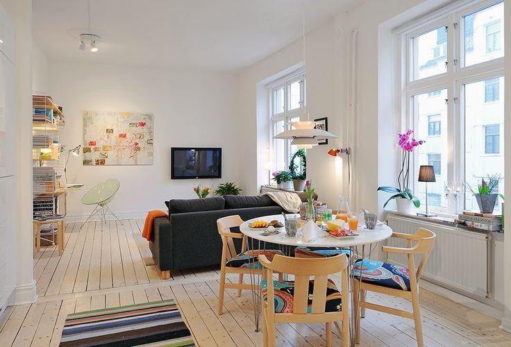 Простота и скромность в обычной квартире-студии