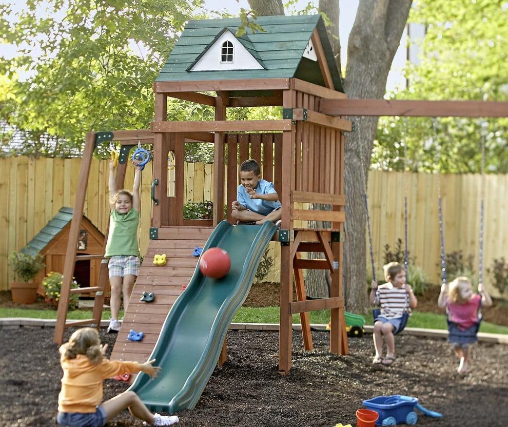 Сегодня детские площадки для дачи пользуются небывалой популярностью