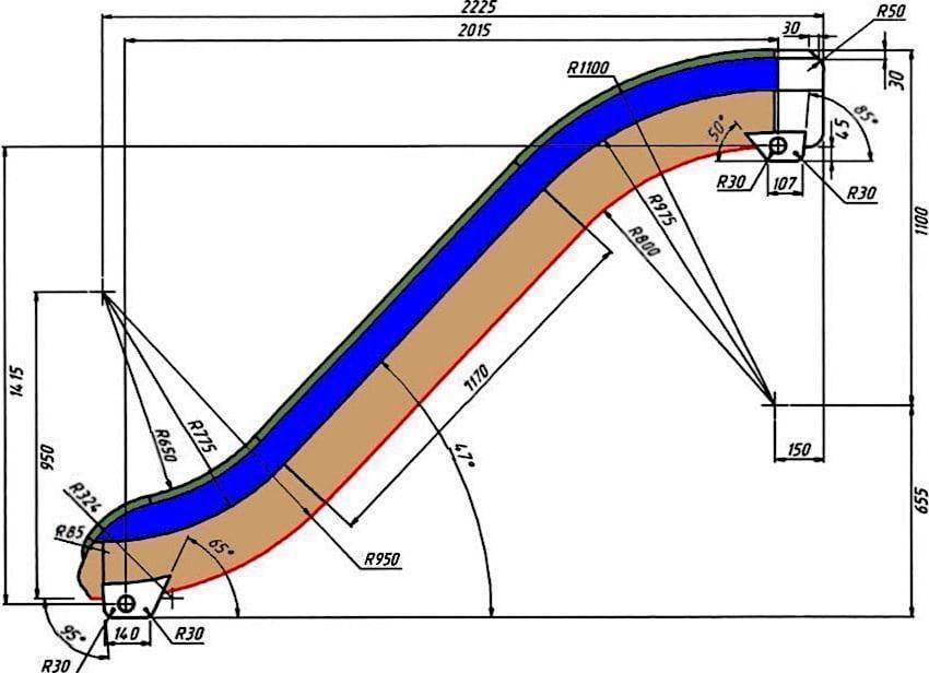 Чтобы скольжение было максимально комфортным, скат должен быть установлен по определенным углом