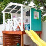 красивый домик для детей в белом цвете
