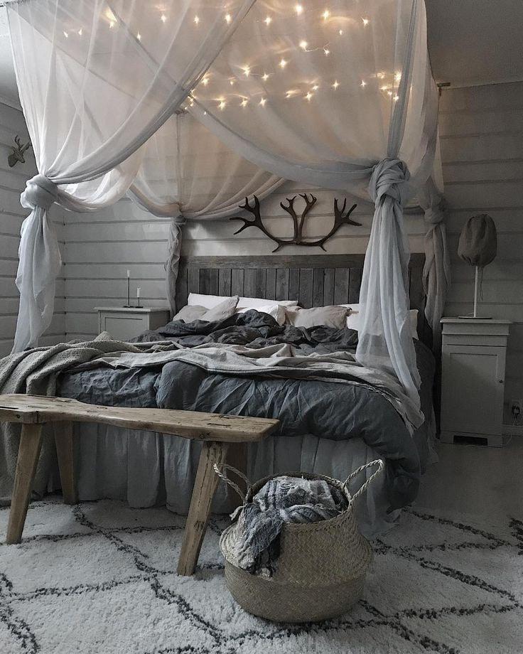 Спальня в сером цвете