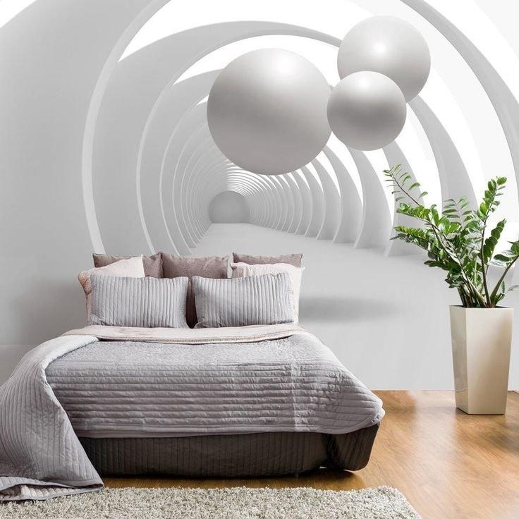 3D обои в спальню помогут придать привлекательный вид комнате и настроят вас на комфортный отдых