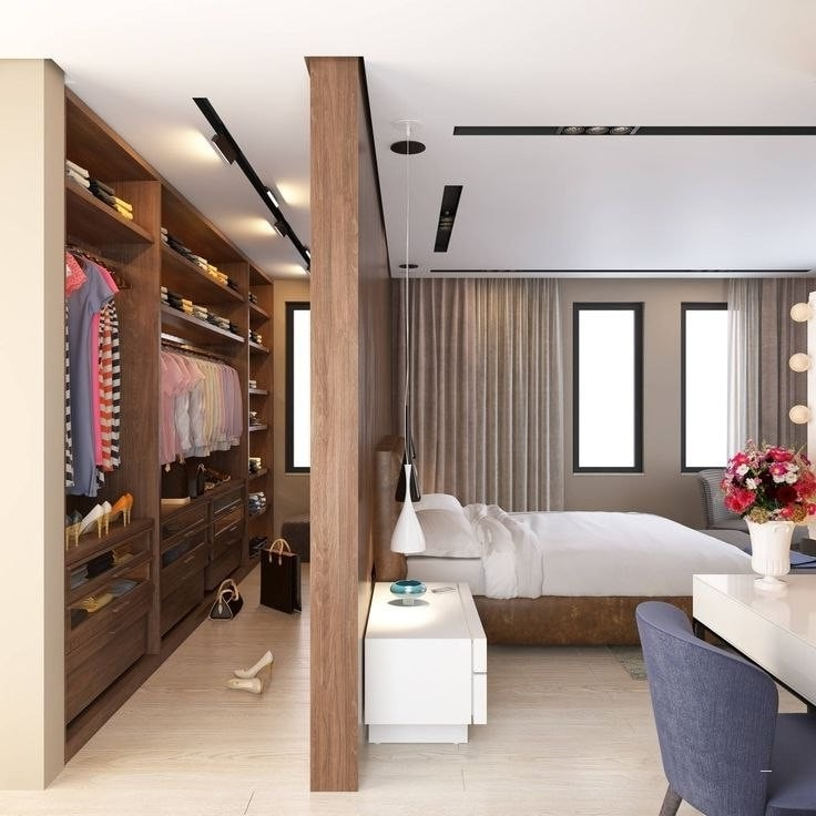 Дизайн просторной гардеробной без лишних затрат