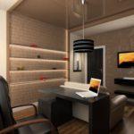 стильный дизайн рабочего кабинета