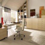 натуральные материалы для отделки кабинета