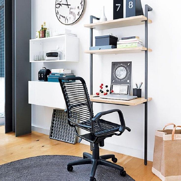 Невесомая конструкция для экономии пространства в комнате, но при этом несет все функции рабочего места