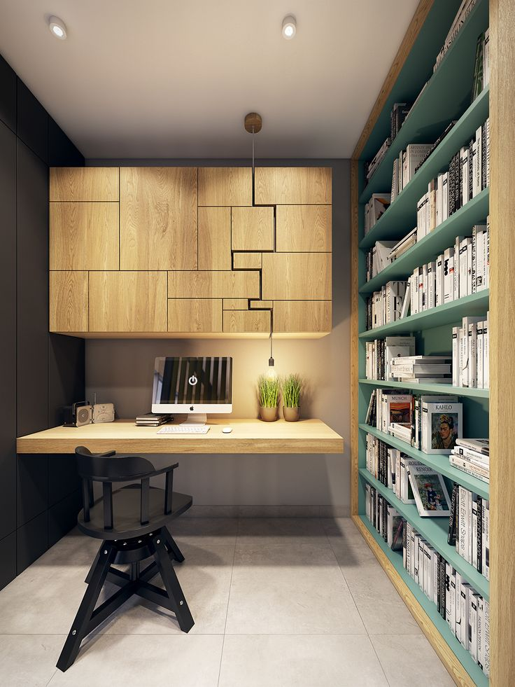 В маленьких помещениях следует использовать натуральные материалы