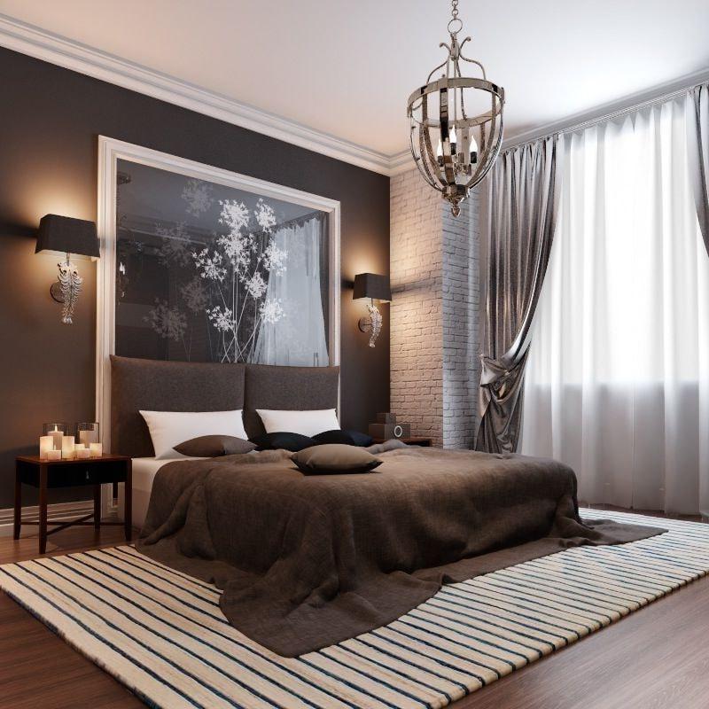 Стеклянное панно может полностью заменить покрытие стен, а также стать центром притяжения внимания