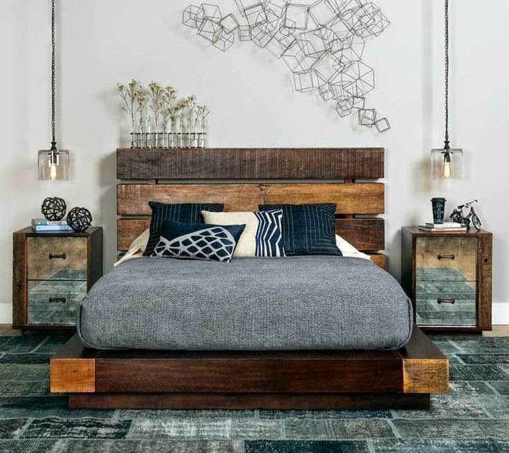 Роскошная кровать и выигрышное сочетание нестандартных оттенков