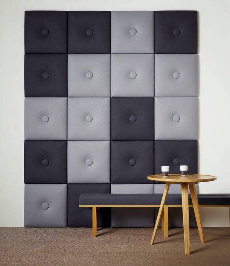 Мягкая стена - отличный творческий замысел для стильного домашнего интерьера
