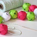 бумажные шарики для гирлянды