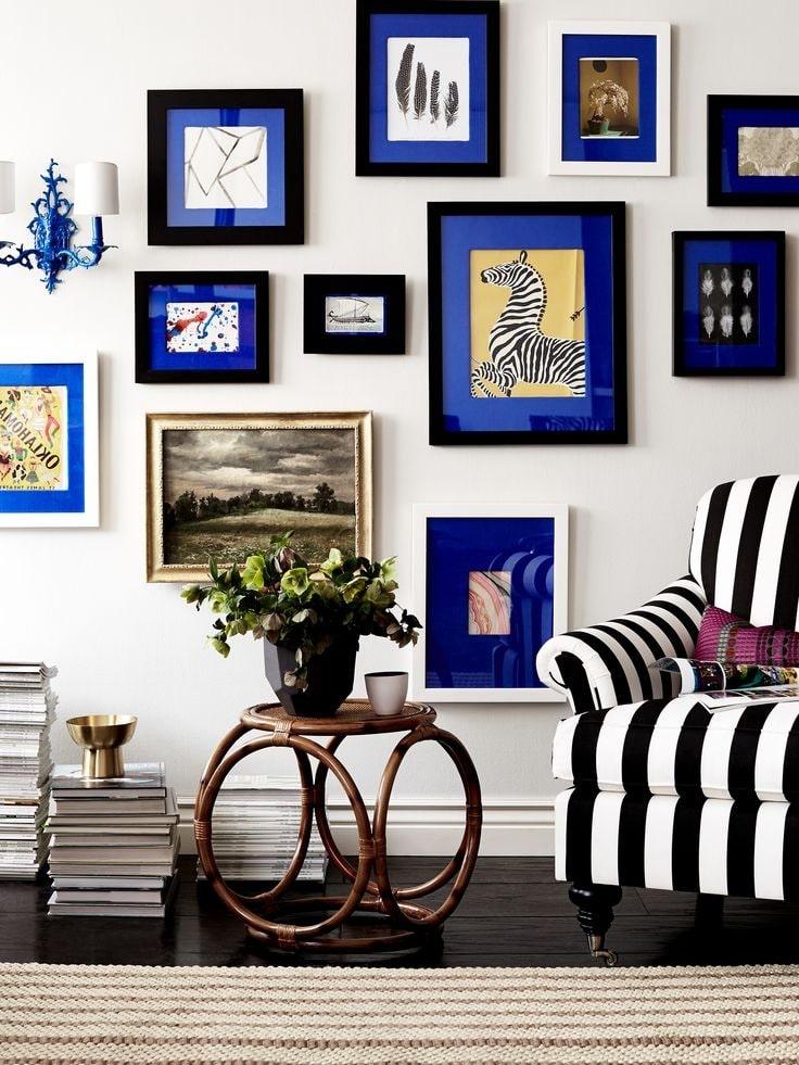 Яркие рамы добавят цвет, текстуру и смысл в пространство, придавая ему индивидуальность