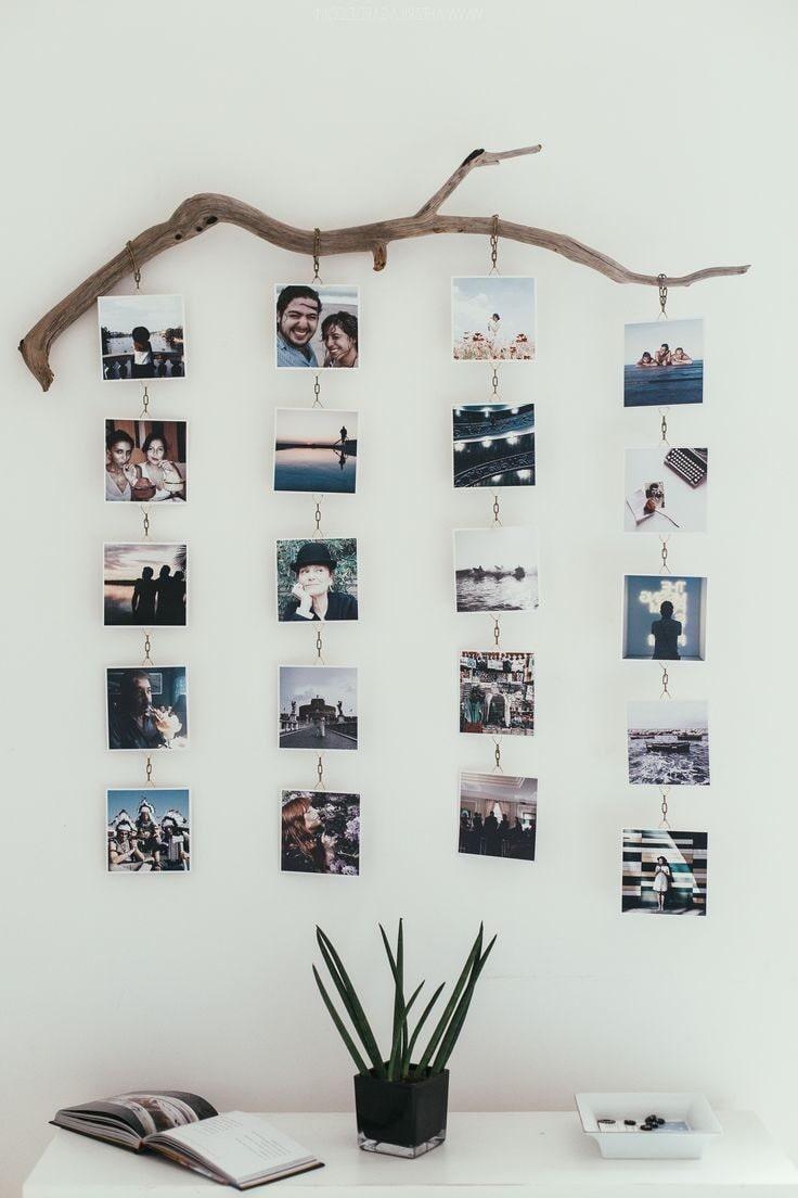 Композиция из подвесных фотографий и незабываемыми моментами в жизни
