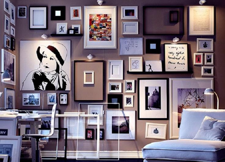 Мастерская творческого человека всегда интересна, в ней полно любимых картин и снимков из собственной коллекции