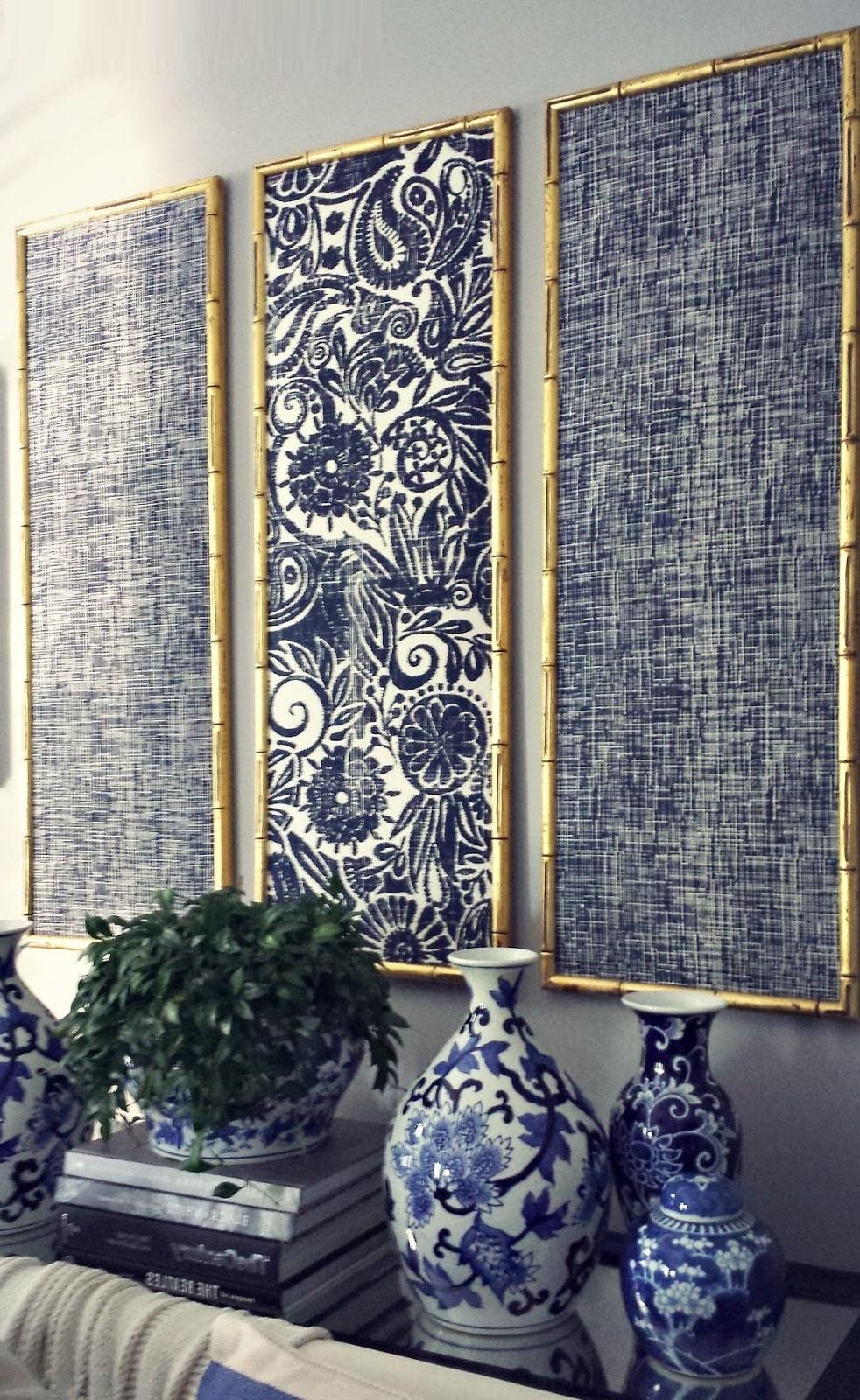 Четкость принта и роскошь ткани подчеркнет рама в золотом цвете