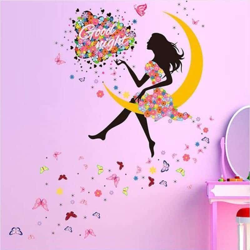 розовые стены в детской