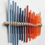 палочки и ветка - украшение