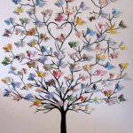 дерево из бабочек