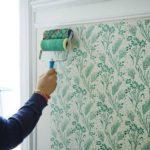 покраска стен валиком с узором
