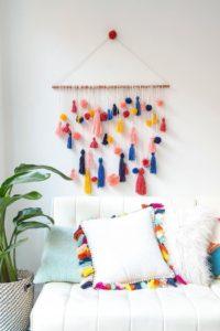 мягкий декор подвешенный к стене