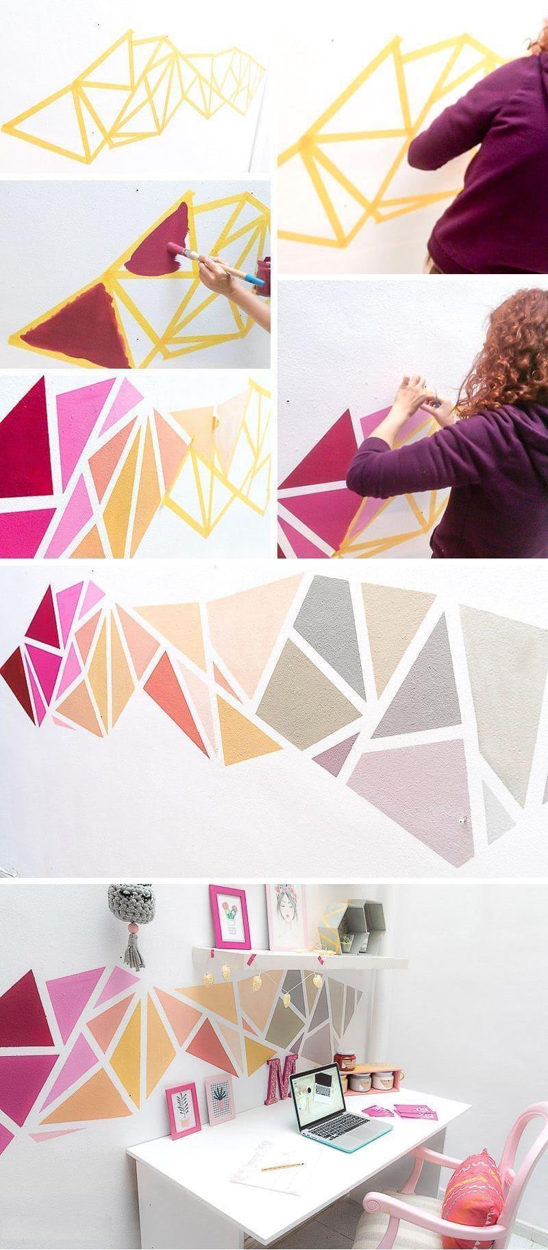 Даже самый обычный участок стены можно превратить в стильное украшение всей комнаты