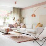 теплые оттенки розового и белого