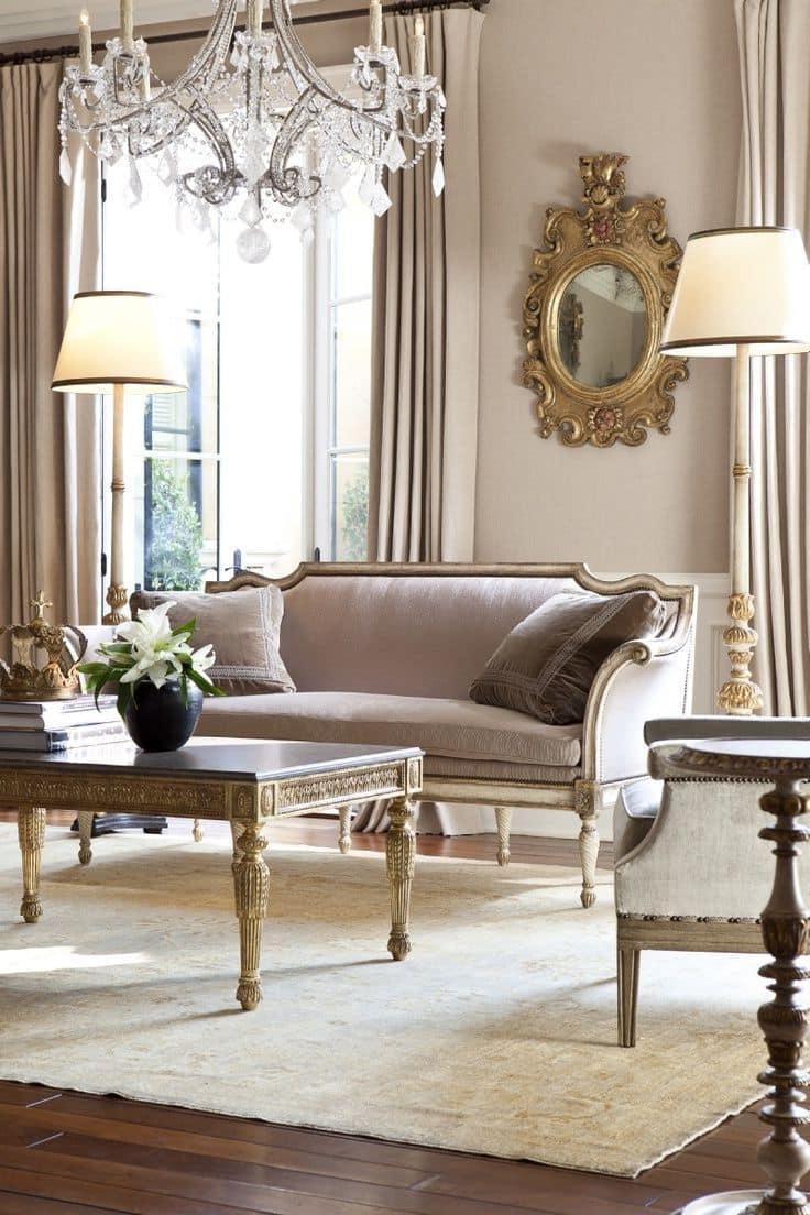 Красивый современный дизайн гостиной в светлых тонах