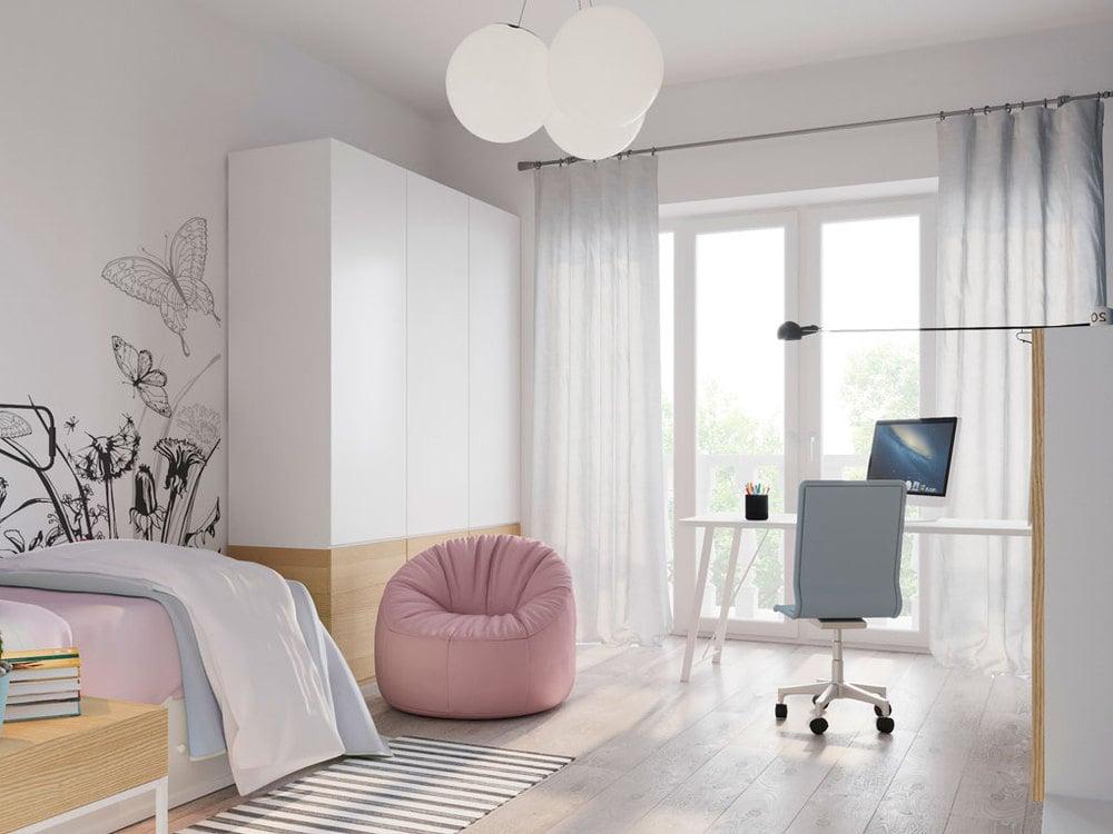 Идеальная чистота и порядок в комнате у ребенка – это детская в стиле минимализм
