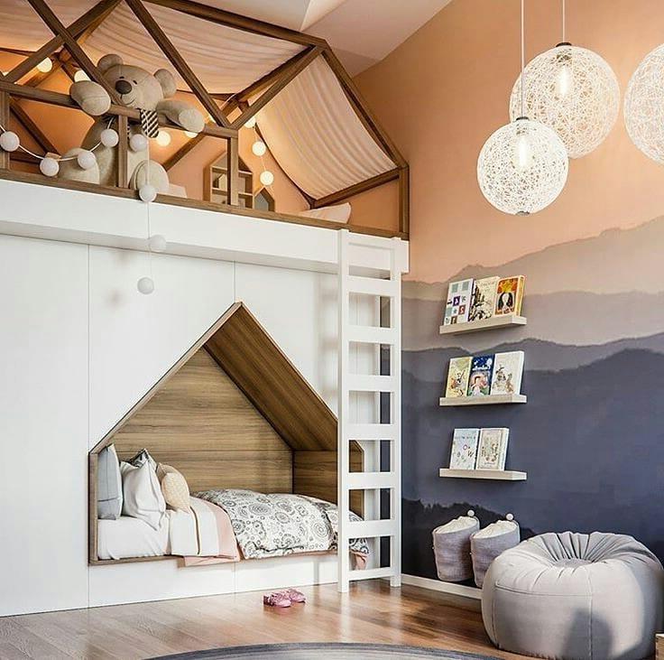 Интересная идея многоярусного обустройства спальных мест