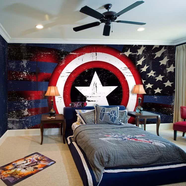 Красивое оформление подростковой комнаты