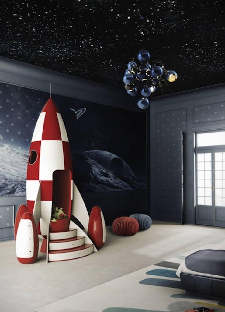 Интерьер детской в космическом стиле