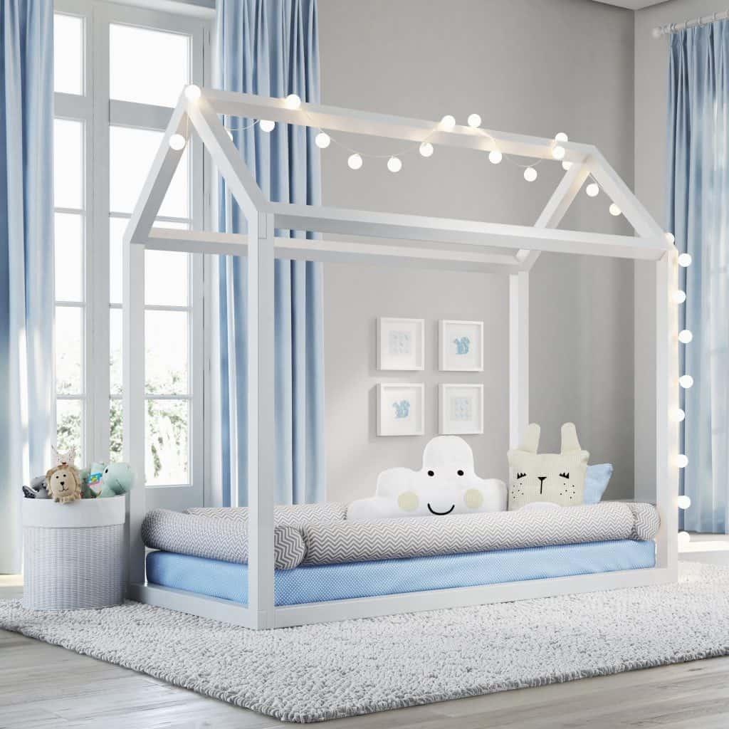 Эффектная подсветка каркаса кроватки