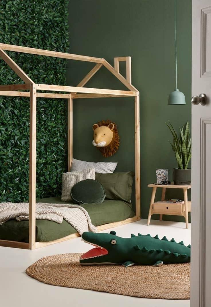 Великолепный интерьер детской комнаты в природных тонах