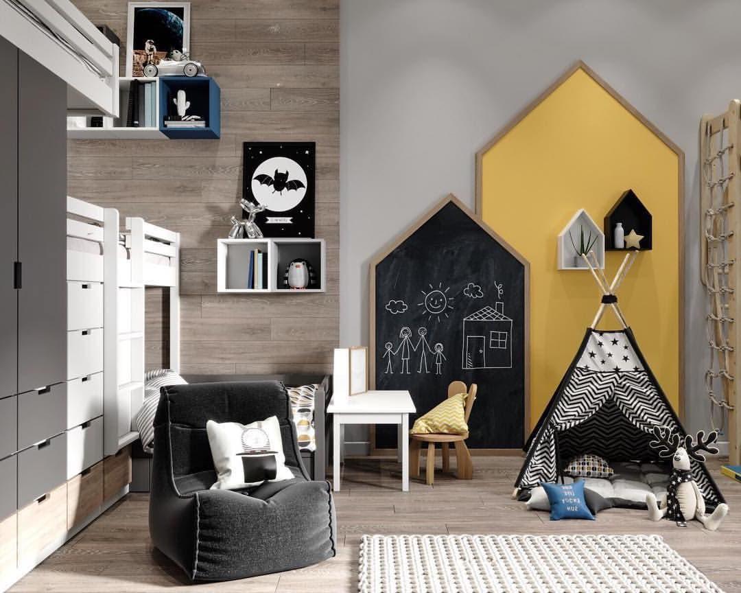 Функциональный и практичный интерьер детской комнаты для двух мальчиков