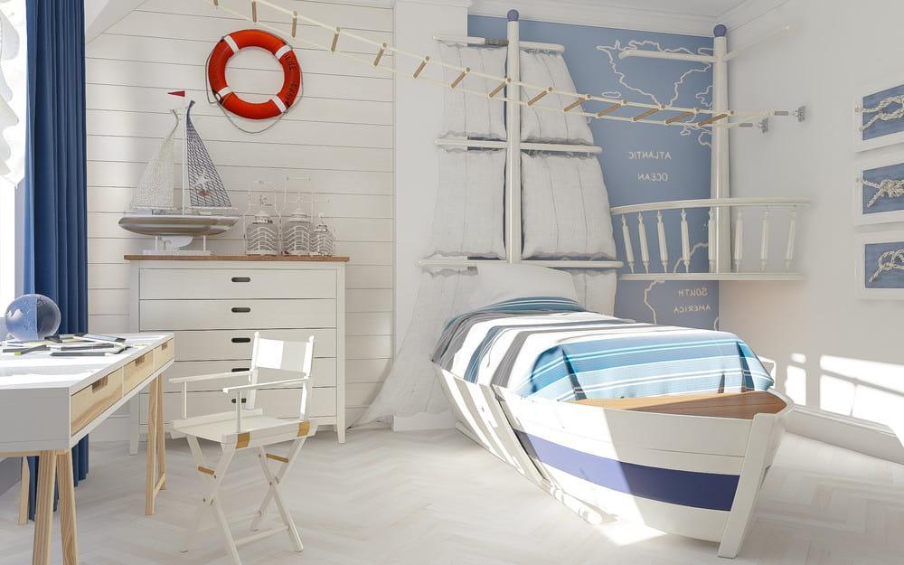 Детская кровать в виде лодки - мечта любого мальчишки