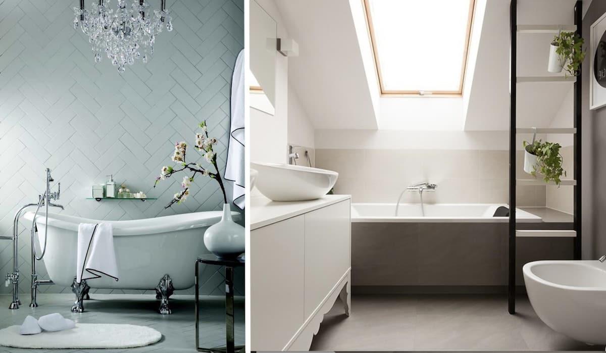 Симпатичный дизайн ванной в современном стиле