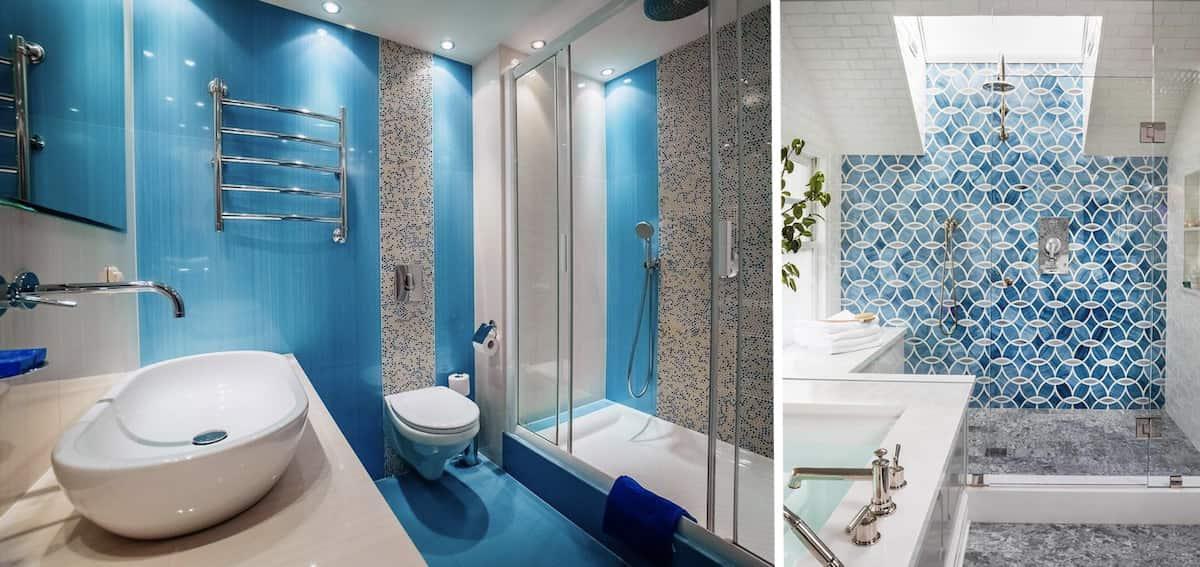 Голубой цвет расширяет пространство комнаты