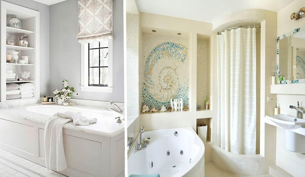 Светлый оттенок в ванной - это беспроигрышный вариант