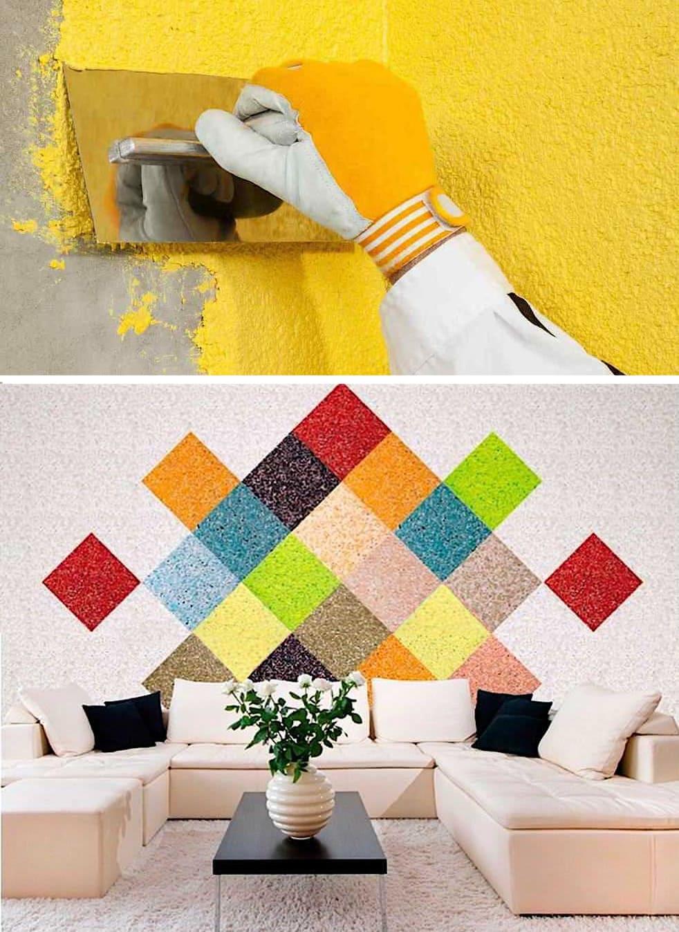 Способ нанесения жидких обоев на стену очень прост, а результат от проделанной работы вас приятно удивит