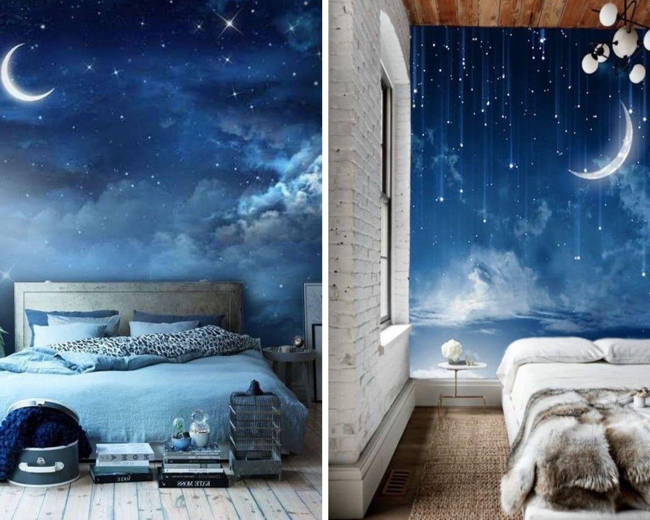 Фотообои в спальне помогут создать атмосферу умиротворения и расслабленности