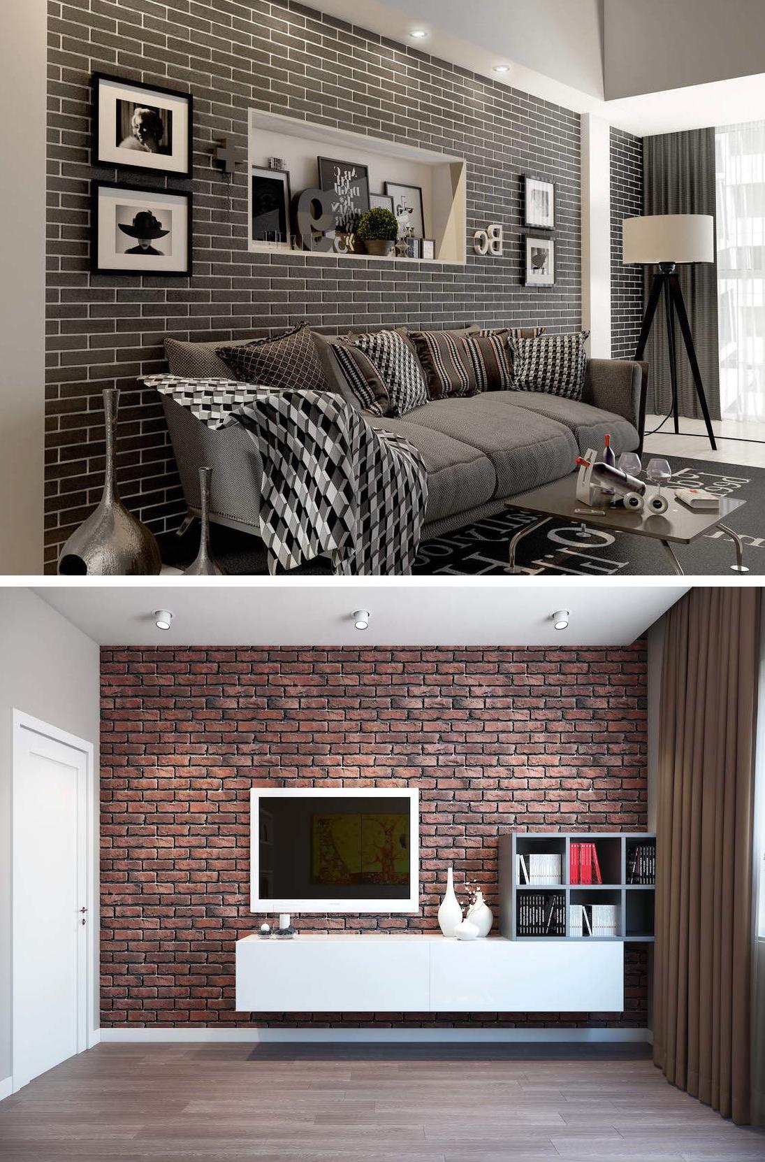 Несмотря на то что обои имитирующие кирпичную кладку будут уместны абсолютно в любой комнате, к их выбору следует подойти с особой ответственностью