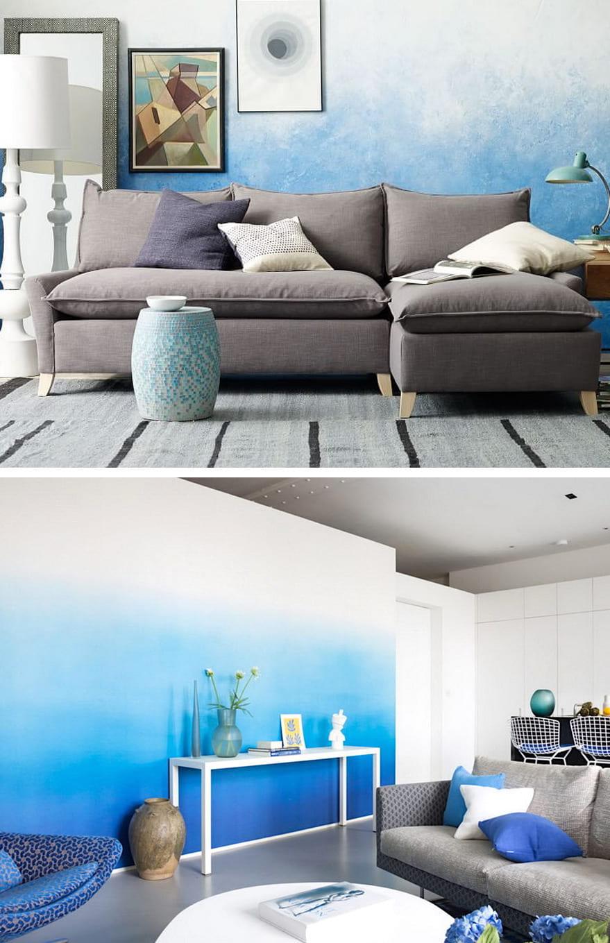 Градиентный дизайн обоев представлен в невероятно широком спектре цветовых оттенков и фактурного разнообразия