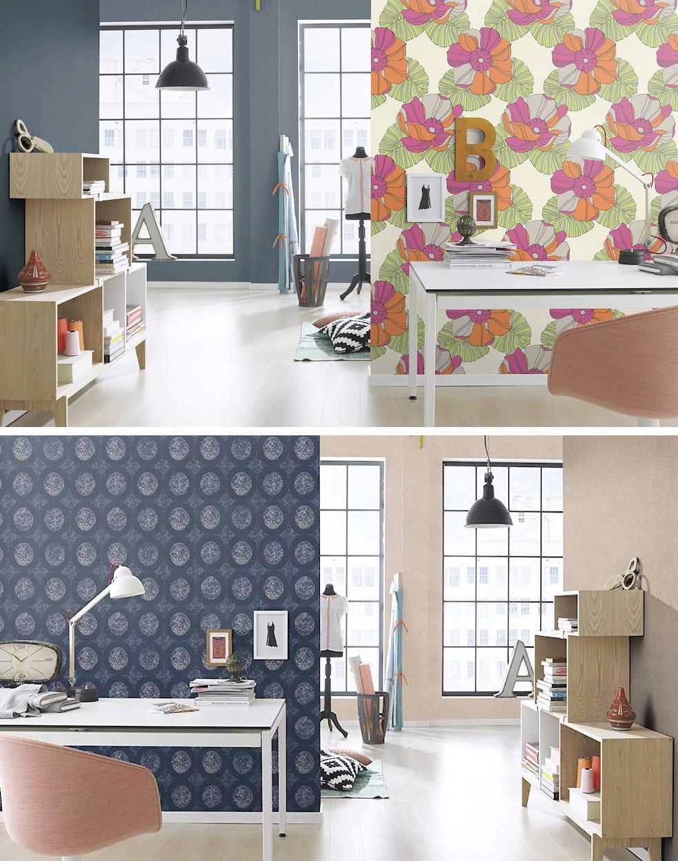 Для создания неповторимого дизайн, достаточно оформить красивыми обоями хотя бы одну стену, главное чтобы они хорошо вписались в общую стилистику интерьера