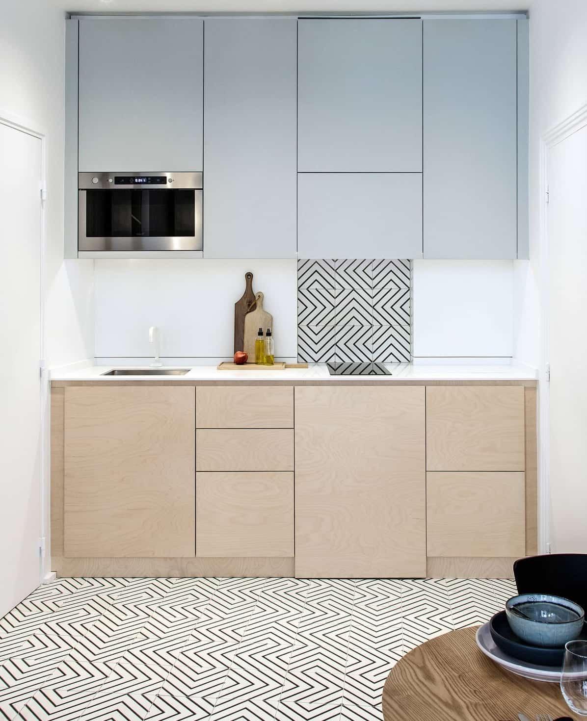 Стильная и компактная мини кухня